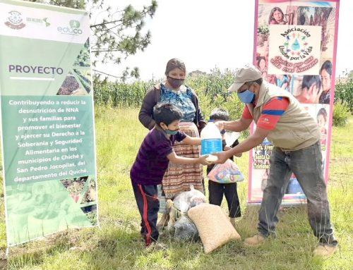 Asistencia humanitaria a niños, niñas y sus familias en comunidades rurales de Quiché